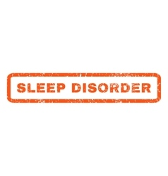 Sleep Disorder Rubber Stamp vector