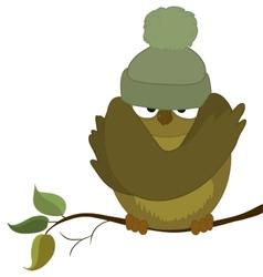 Sparrow cold autumn vector