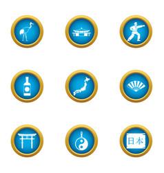 Spiritual power icons set flat style vector