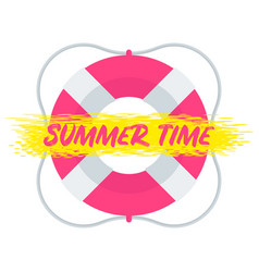 summer time lifebuoy vector image