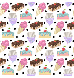 sweets patternpattern with cake vector image