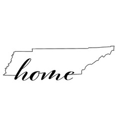 tennessee state map outline with home vector image