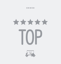 Top rating - web icon vector