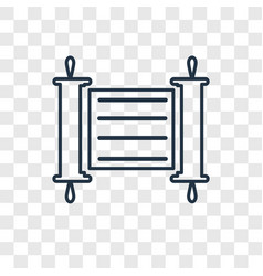 Torah concept linear icon isolated on transparent vector
