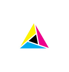 triangle colorful icon geometric business logo vector image