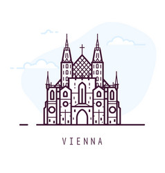 Vienna line city vector
