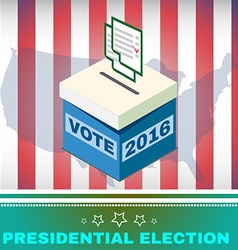 Voting Box and Ballot USA Election 2016 vector