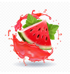 Watermelon juice realistic vector