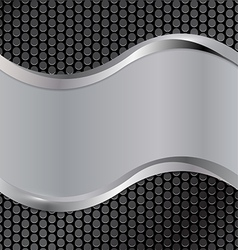 Wave silver black vector