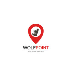 wolf point logo vector image