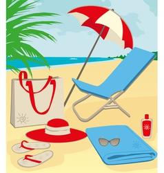 beach holiday vector image