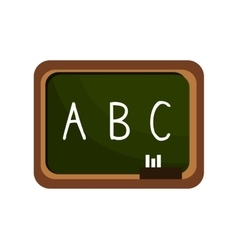 cartoon board chalkboard alphabet isolated vector image