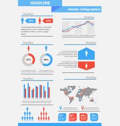 gender infographics template vector image