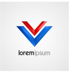 Pair of v symbol template vector