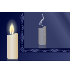 candle and mirror vector image vector image