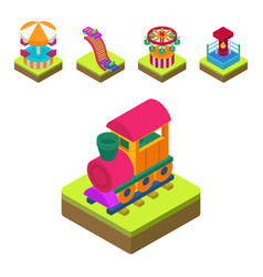 circus isometric show entertainment tent marquee vector image