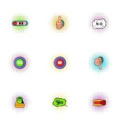 Click and selection icons set pop-art style vector image vector image