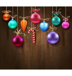 Festive Decorative Christmas Template vector image vector image