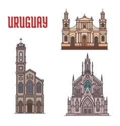 Uruguay tourist attraction architecture landmarks vector image vector image