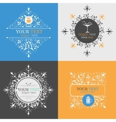 Alcoholic beverage icons vector image vector image