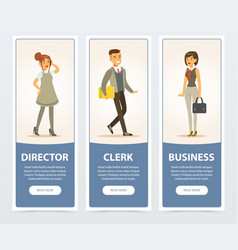 business people company staff director clerk vector image vector image