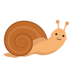 cute snail icon flat or cartoon style isolated on vector image