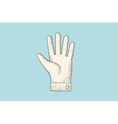 Drawing of hand sign with pointing finger in vector image vector image