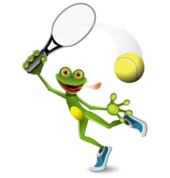 frog tennis player vector image vector image