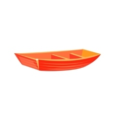 Primitive Wooden Toy Boat vector image