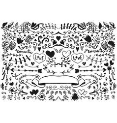 sketch elements set vector image vector image