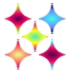 Abstract Halftone Design rhombus Elements set vector image