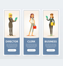 business people company staff business banners vector image vector image