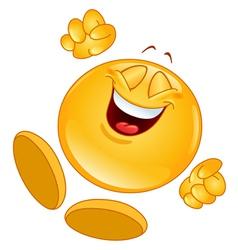 cheerful emoticon vector image