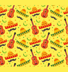 cinco de mayo seamless pattern mexican holiday vector image vector image