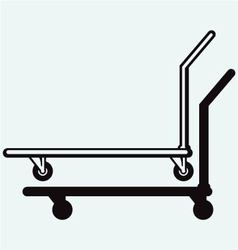 Manual pallet truck vector image vector image