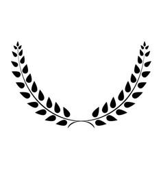 sign laurel wreath black 203 vector image vector image
