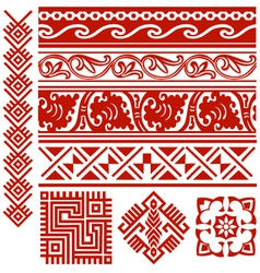 tribal border vector image