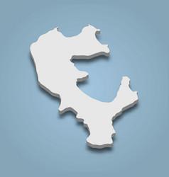 3d isometric map koh rong samloem is an island vector