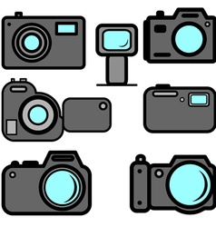 a set of digital cameras vector image