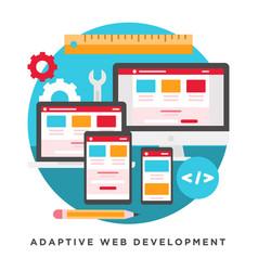 adaptive web development vector image