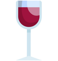 alcoholic cocktail served in wineglass drink made vector image