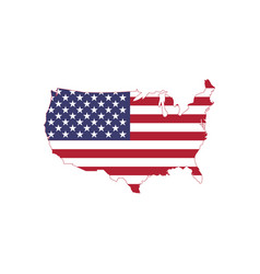 American flag on american map usa map with flag vector