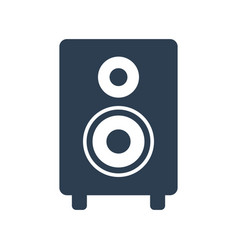 audio speaker icon on white background vector image