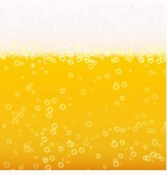 beer foam background realistic beer texture vector image