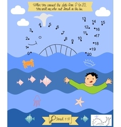 biblical reference for children to connect vector image