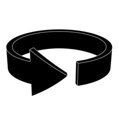 Black arrow horizontal circle vector