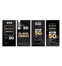 Black friday sales 50 discount banner design vector