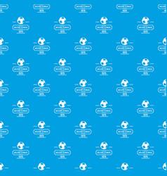 Brazil football pattern seamless blue vector
