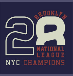 brooklyn national champions vector image