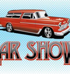 car show vector image